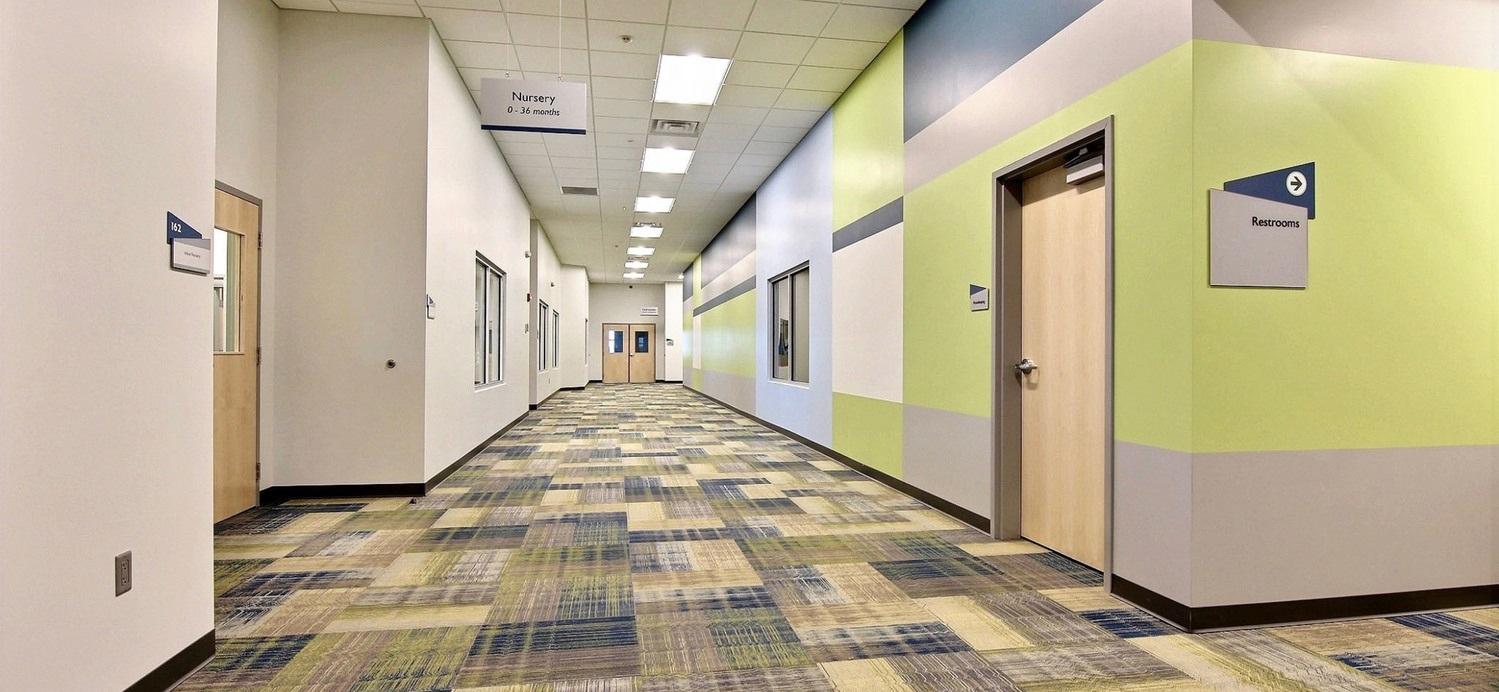 First Church DeMotte Facility Kids Hallway