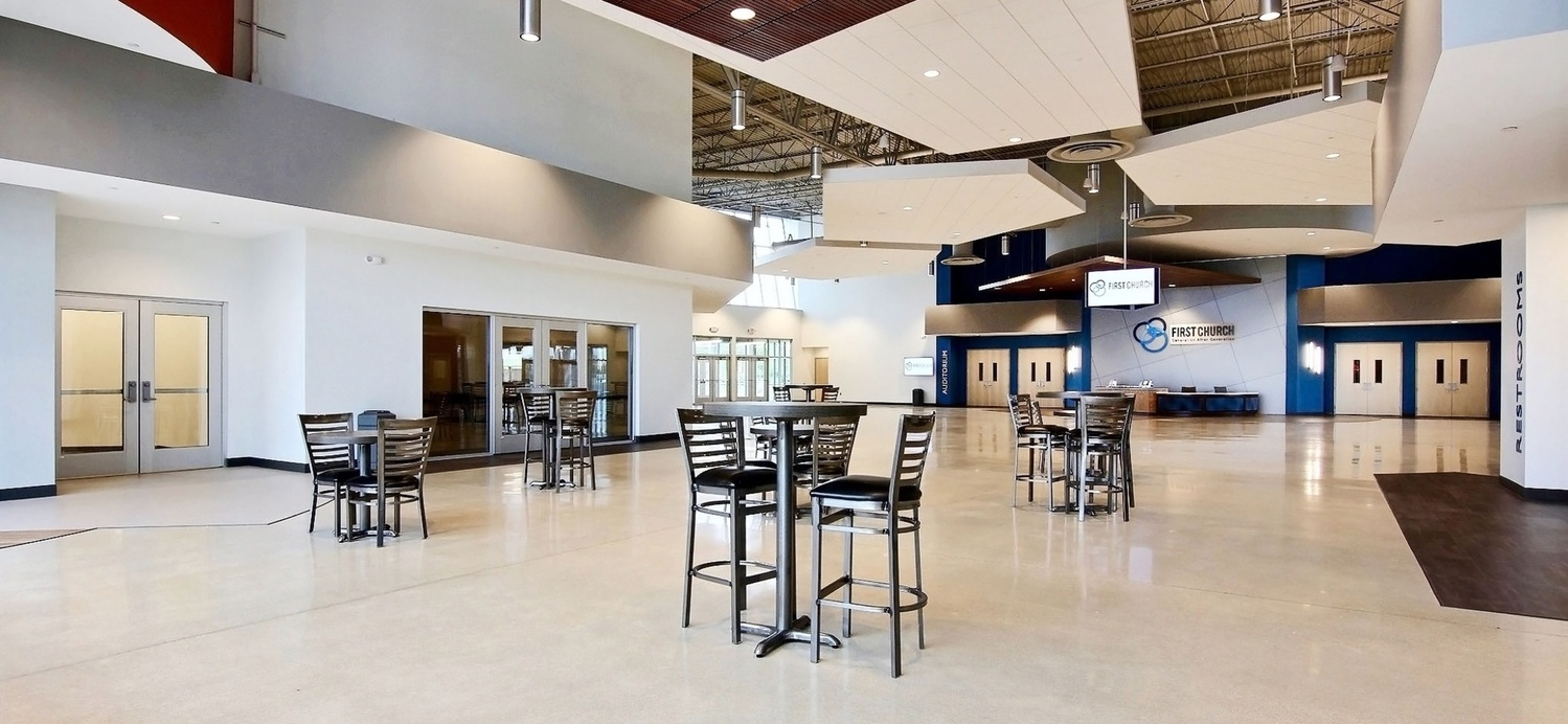 First Church DeMotte Facility Lobby Gathering Area 1