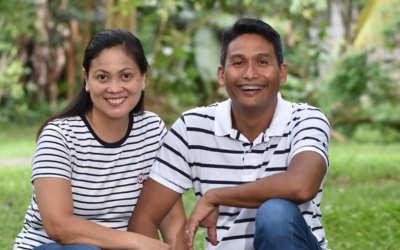 Jonel and Eunice Arcedera in the Philippines